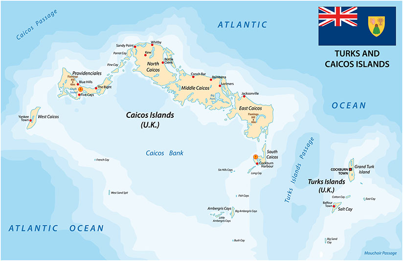 Map Turks and Caicos 1 1