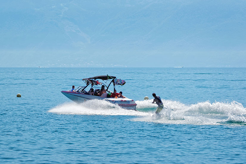 Triton Luxury Villa Turks and Caicos Wakesurfing 1